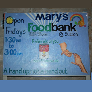 Mary's Food Bank at Sutton